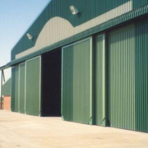 Industrial Sliding Warehouse Door, Galvanized Steel Sheet, PU Foam Injection pictures & photos