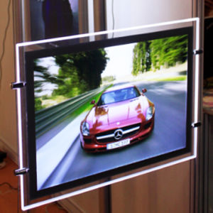 Magnetic Slim Crystal LED Advertising Light Box pictures & photos