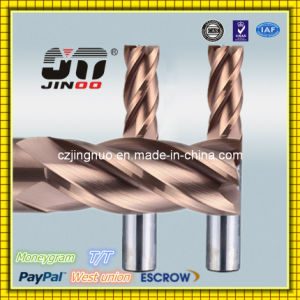 Jinoo Solid CNC Carbide Flat End Mill Helix 45 CNC Cutter for Steel pictures & photos