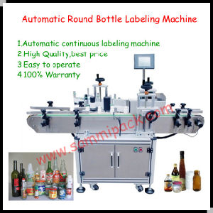 Automatic Vertical Round Bottle Adhesive Sticker Labeling Machine (SMTBJ-90)