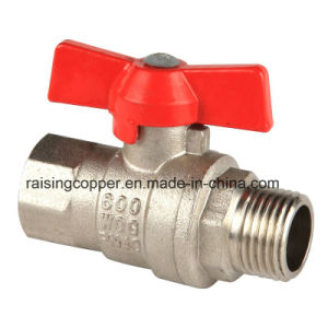 Brass Ball Valve with Butterfly Handle pictures & photos