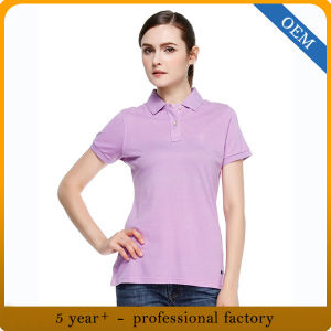 Design 100% Cotton Polo Shirts Womens pictures & photos