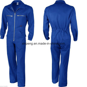 Safety Coverall with Chest Ykk Zipper pictures & photos