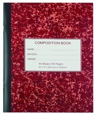 Wholesale Composition Books with Saddle Stitch Binding pictures & photos
