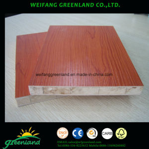 18mm Cherry Colour Melamined Block Board with Falcata Core pictures & photos