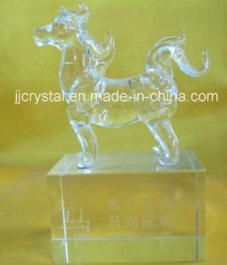 High Quality Transparent Crystal Animals Model Horse for Birthday or Holiday Gifts pictures & photos