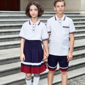 Bulk White Primary School Uniform Polo Shirt pictures & photos