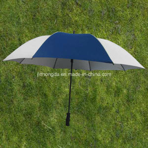 """Durable Frame 25""""X8k Silver Coated Fabric Straight Sun Umbrella (YSS0093) pictures & photos"""