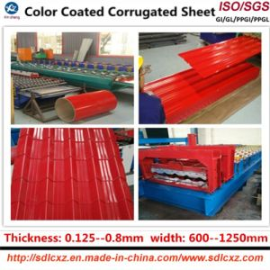 Galvnized Corrugated Steel Roofing Sheet (0.13--1.3mm) pictures & photos