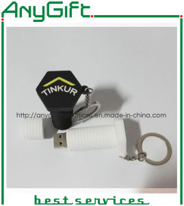 Bolt Shaped PVC USB Stick with Customized Color pictures & photos