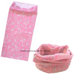 OEM Produce China Factory Pink Paisley Printed Multifunctional Headwear Scarf pictures & photos
