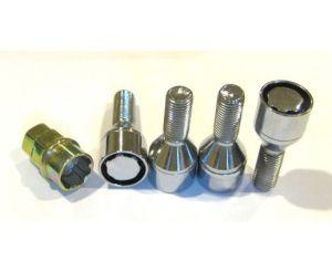 12X1.5, Heat Treated, 28mm Shank, 4/W Key, Wheel Rim Lug Lock Bolt, Sleeve, Acorn pictures & photos