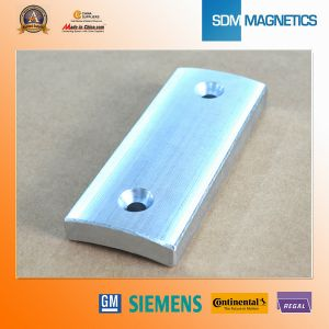 Customized Rare Earth Arc Magnets with Hole pictures & photos