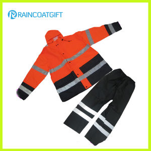 Reflective Oxford Nylon PU Rainsuit (RPY-037) pictures & photos