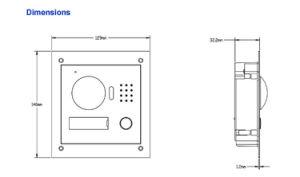 Dahua Access Control Home Security Video Intercom System Doorphone Doorbell IP Villa Outdoor Station (VTO2000A) pictures & photos