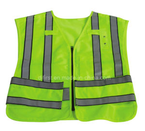 High Visibility Reflective Safety Vest with En471 (DFV1028) pictures & photos