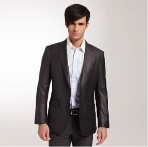 Black Suit Two Buttons Suits (W0402)