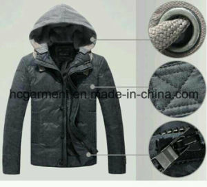 Man′s Fleece Jacket with Hoodie, Outer Wear Winter Coat pictures & photos