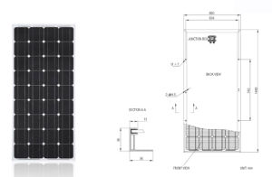 12V Mono 150W Solar Panel for Home Solar System pictures & photos