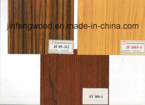Melamine Wood Grain Color Melamine Laminated MDF Board Hotel Cabinte Board pictures & photos