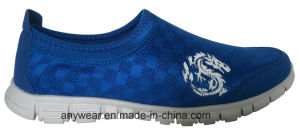 Elastic Mesh Men Leisure and Comfort Walking Shoes (816-9949) pictures & photos