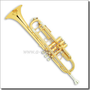 Gold Lacquer Bb Key Professional Trumpet (TP8390) pictures & photos