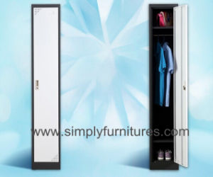 Single Door Metal Store Wardrobe pictures & photos