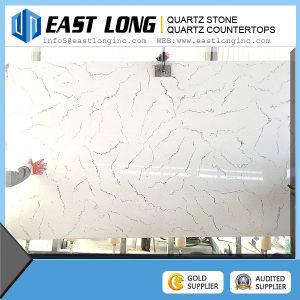 Marble Color Carrara White Quartz Stone Countertop, Quartz Slab, Quartz Tile pictures & photos