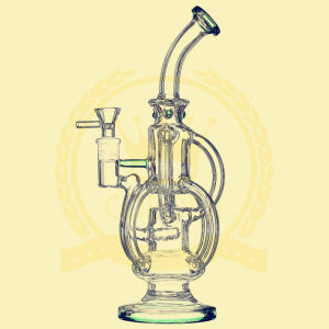 Double Loop Filter Glass Smoking Pipe, Recycle Water Pipes, High-Grade Glass Pipe pictures & photos