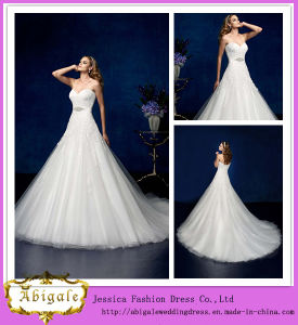 2014 Hot Sale Floor Length A-Line Sweetheart Appliqued Wedding Dresses From China (WD08)