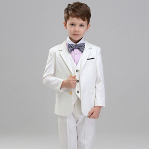 High Quality 3 Pieces White Boys Suits Tuxedo pictures & photos