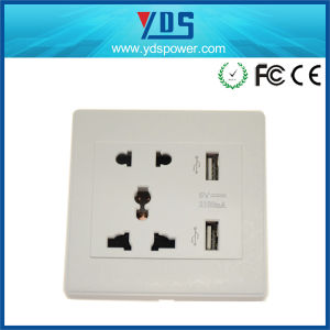 High Quality Universal Wall Outlet USB Wall Switches Socket pictures & photos