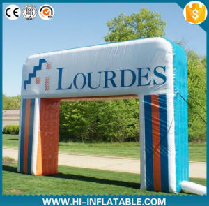 2016 Customized Advertising Inflatable Arch with Hook & Loop Logo