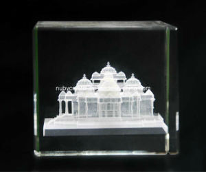2 Inch 3D Internally Laser Engraving Akshardham Temple in Crystal for Hinduism (R3014) pictures & photos