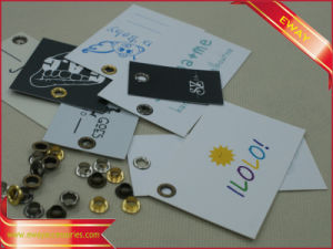 Metal Eyelet Hang Tag Garment Printed Paper Tag pictures & photos
