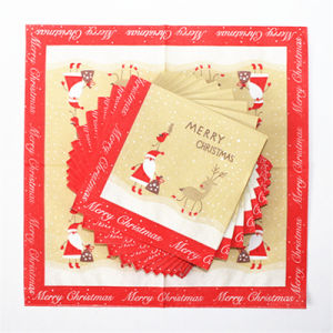 Santa Claus Printed Party Paper Tableware Napkin pictures & photos