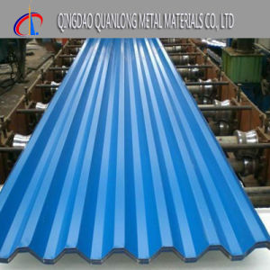 Color Coated Blue Corrugated Steel Roof Sheet pictures & photos