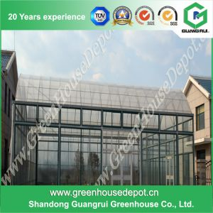 Low Price Glass Greenhouse with PC Sheet Covered for Planting pictures & photos