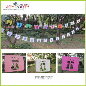 12 PCS Paper Banner Garland for Wedding