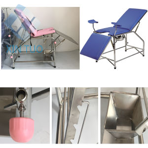 Hospital Examination Table Obstetric/Gynecological Delivery Bed pictures & photos
