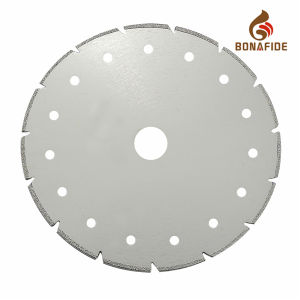 Popular Style Electroplated Diamond Saw Blade with Cooling Holes pictures & photos