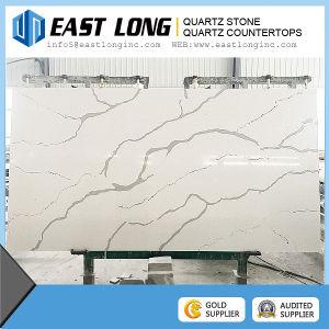 2016 New Polished Calacatta Surface Quartz Stone, Artificial White Quartz Stone Countertops pictures & photos