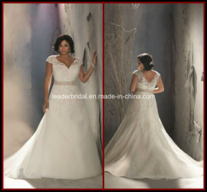 Plus Size Bridal Gowns Mermaid Tulle Lace Wedding Dress Rr9003 pictures & photos
