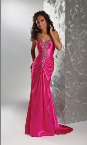 Beaded Satin Sweetheart Evening Dresses (ED13005) pictures & photos