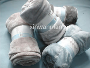 High Quality Plain 100% Polyester Coral Fleece Blanket (XWN-SH004)