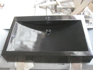 Absolute Black Granite Sinks for Bathroom pictures & photos