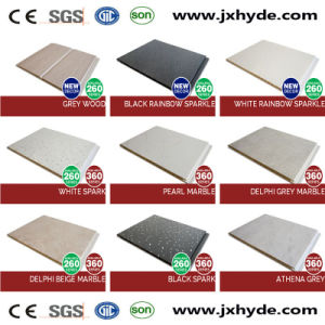 7*250mm Hot Stamping Middle Groove PVC Panel Wall Decoration Panel pictures & photos