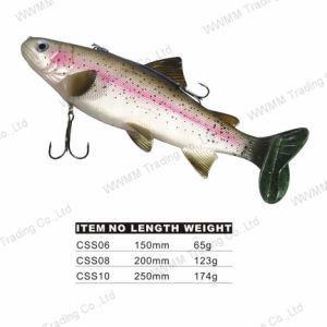Giant Trout Shape Saltwater Soft Fishing Lure (CSS) pictures & photos