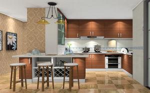 Melamine U-Shaped Kitchen Cabinet (zg-028) pictures & photos