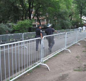 1.1m Highx2.5m Wide Temporary Barricade Fence